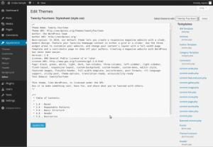Wordpress(ワードプレス)のテーマに含まれるファイル郡の機能解説