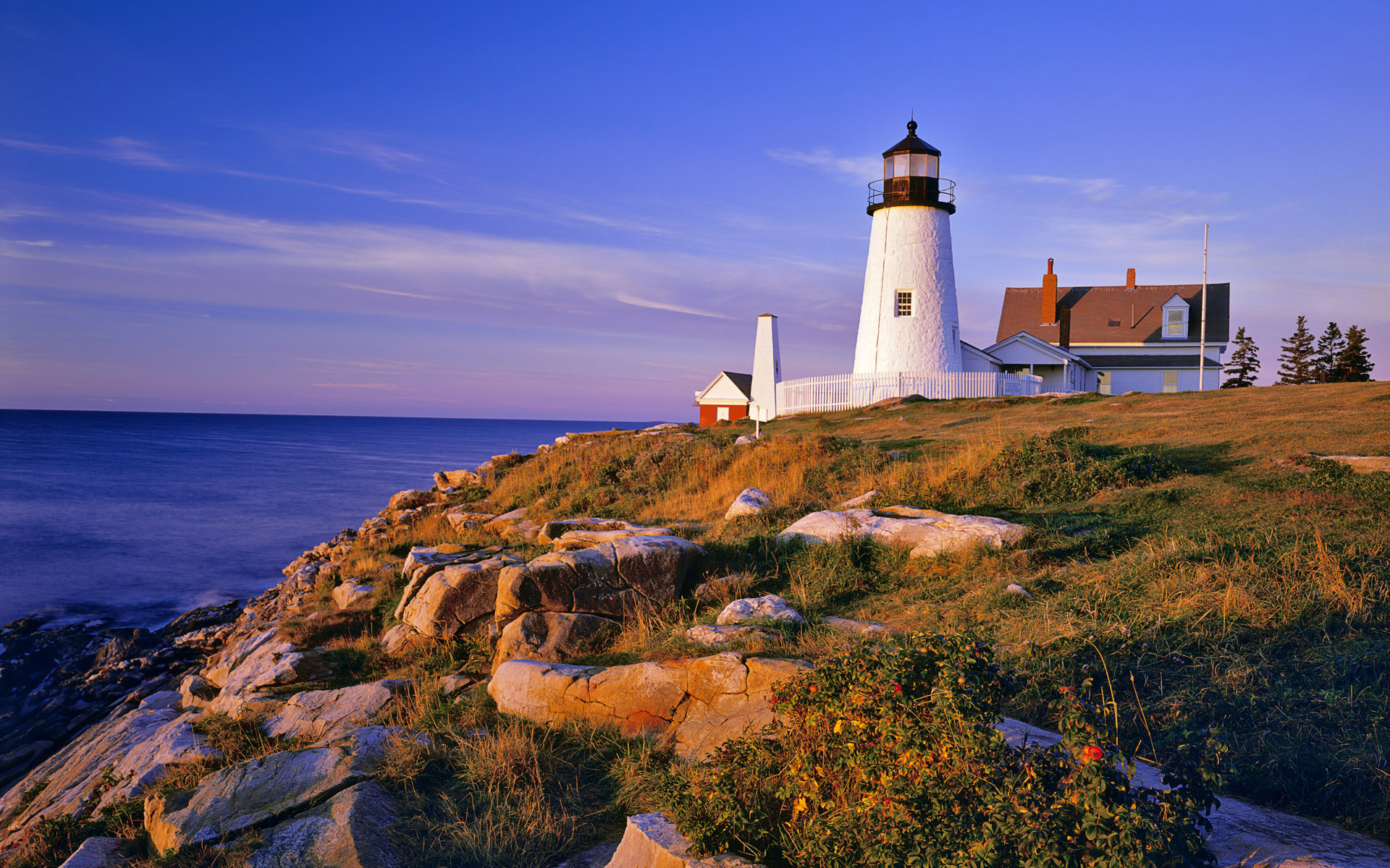 Pemaquid Lighthouse and Cliffs; Maine, USA