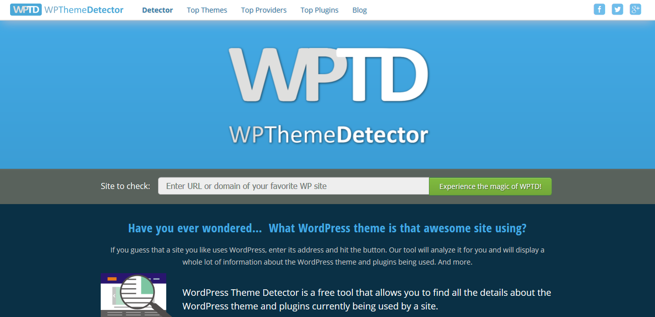 WordPress Theme Detector   Free online tool to find a site´s theme