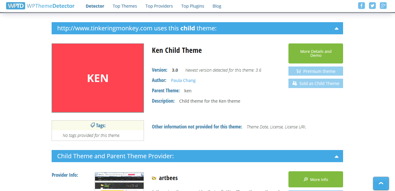 WordPress Theme Detector   Free online tool to find a site´s theme(2)